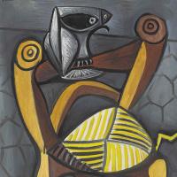 Пабло Пикассо. Сова на стуле
