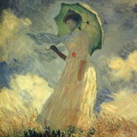 Woman with a Parasol, facing left. A study