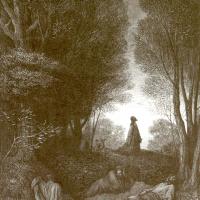 Поль Гюстав Доре. Иллюстрация к Библии: В саду Гефсиманском