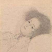 Густав Климт. Портрет лежащей молодой женщины