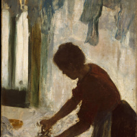 Эдгар Дега. Женщина, гладящая одежду (Прачка. Силуэт)