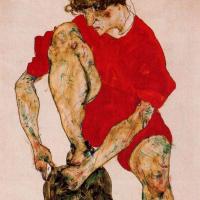 Эгон Шиле. Женщина в красном