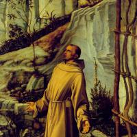 Джованни Беллини. Святой Франциск в пустыне. Фрагмент