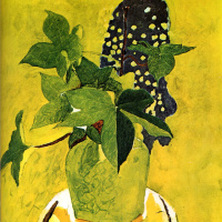 Жорж Брак. Натюрморт с цветком