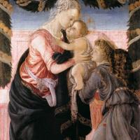 Сандро Боттичелли. Мадонна с младенцем и ангелом