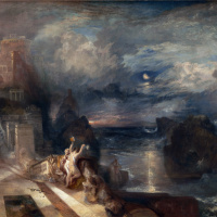 The parting of hero and Leander
