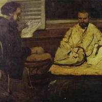 Paul Cezanne. Reading Emile Zola