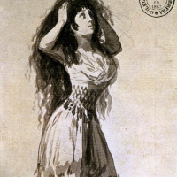 Франсиско Гойя. Герцогиня Альба, укладывающая волосы