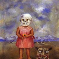 Девочка с маской Смерти