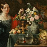 Портрет неизвестной с цветами и фруктами
