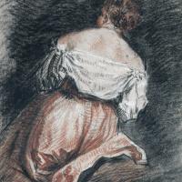 Антуан Ватто. Женщина, сидящая спиной (Бассано)