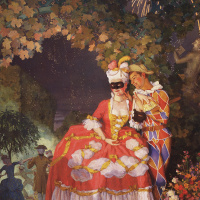 Harlequin and the lady