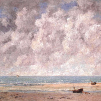 Gustave Courbet. Calm sea