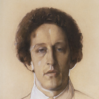 Константин Андреевич Сомов. Портрет Александра Александровича Блока