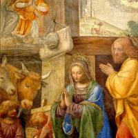 Бернардино Луини. Рождество и поклонение пастухов