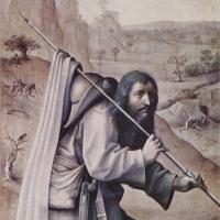 Иероним Босх. Святой Иаков Великий. Триптих Страшный суд. Левая внешняя створка