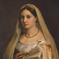 Рафаэль Санти. Донна Велата (Женщина под вуалью. Портрет Форнарины. Дама под покрывалом)