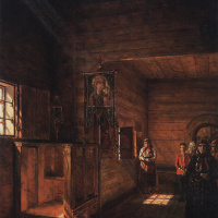 Василий Васильевич Верещагин. Внутренний вид церкви Иоанна Богослова на Ишне близ Ростова Ярославского