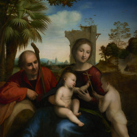 Фра Бартоломео. Отдых на пути в Египет со святым Иоанном Крестителем