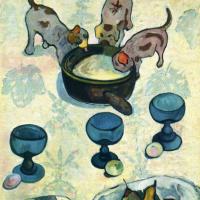 Натюрморт с тремя щенками