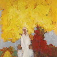 The maple tree in the fall. 1952