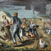 John Steuart Curry. Tornado over Kansas