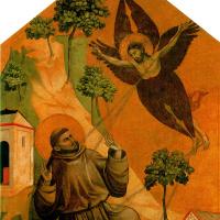Джотто ди Бондоне. Св. Франциск, получающий стигматы, с тремя сценами из жития