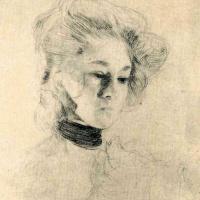 """Густав Климт. Этюд для """"Шуберт за фортепиано"""""""