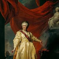 Дмитрий Григорьевич Левицкий. Портрет Екатерины II в виде законодательницы в храме богини Правосудия