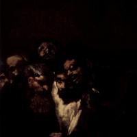 Франсиско Гойя. Серия мрачных картин. Читающие мужчины или политика