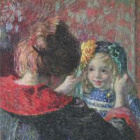 Анри Лебаск. Мадам и ее дочь Марта