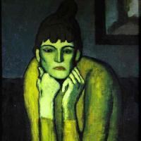 Пабло Пикассо. Женщина с шиньоном