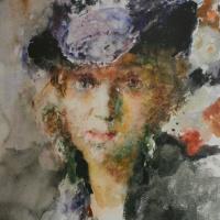 Портрет Елены Тагер в шляпке. 1950-е