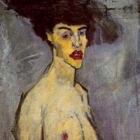 Амедео Модильяни. Девушка в черной шляпе