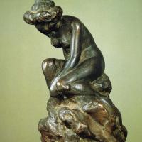 Альфонс Муха. Обнажённая на камне