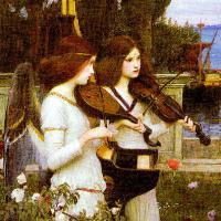 John William Waterhouse. Saint Cecilia (detail)