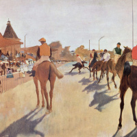 Jockeys (Race horses before the stands)