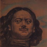 """Голова Петра Великого. Эскиз для панно """"Петр Великий"""""""