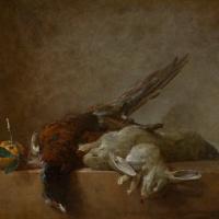 Натюрморт с дичью: кроликами и фазаном