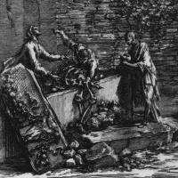 Джованни Баттиста Пиранези. Руины погребальной камеры вольноотпущенников и слуг Августа, деталь