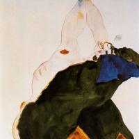 Эгон Шиле. Девушка с поднятым локтем