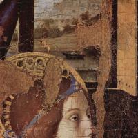 Благовещение, фрагмент, деталь: Голова ангела