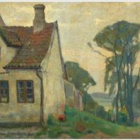 Эйнар Вегенер   (Лили Эльбе). Пейзаж с домом