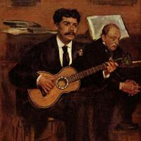Эдгар Дега. Портрет Лоренцо Пагана и Огюста  де Га, отца художника