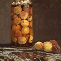 Клод Моне. Банка с персиками