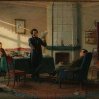 Николай Николаевич Ге. А.С. Пушкин в селе Михайловском