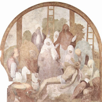 Якопо Понтормо. Цикл фресок Страсти Христовы в Чертоза дель Галуззо, сцена: Снятие с креста, фрагмент
