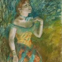 Эдгар Дега. Певица в зеленом
