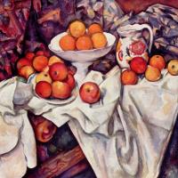 Поль Сезанн. Натюрморт с яблоками и апельсинами