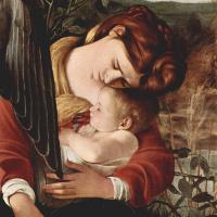 Микеланджело Меризи де Караваджо. Отдых на пути в Египет. Фрагмент